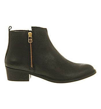 Office Upside Down Black Leather - Ankle Boots. As close to perfection as I have come so far.