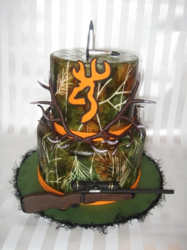 Hunting Cake, Very Cool! Groom's Cake !!!