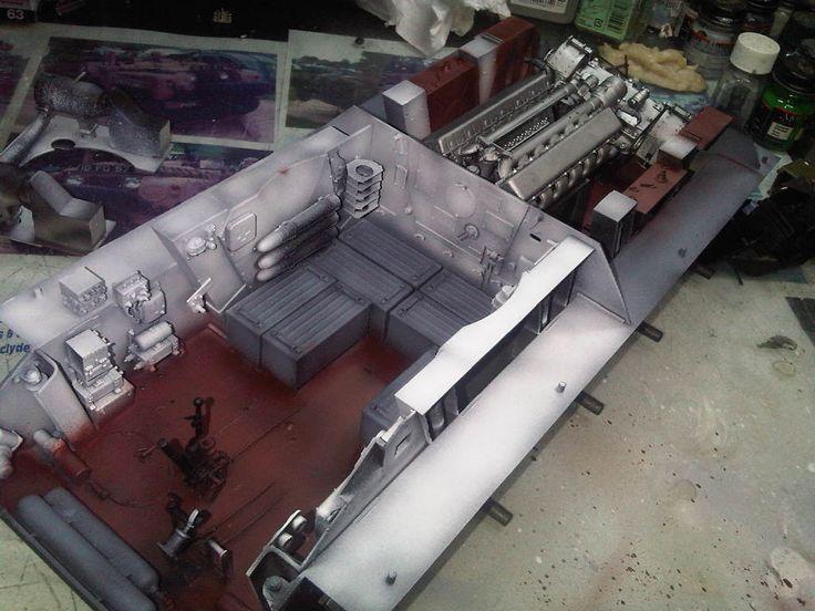 1/scale Russian T34 Tank Interior, by ademdelart