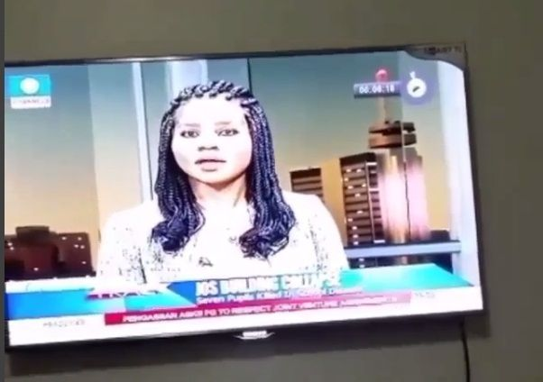 VIDEO: Channels TV News Anchor Caught Blowing her Male Colleague a Kiss on Live TV