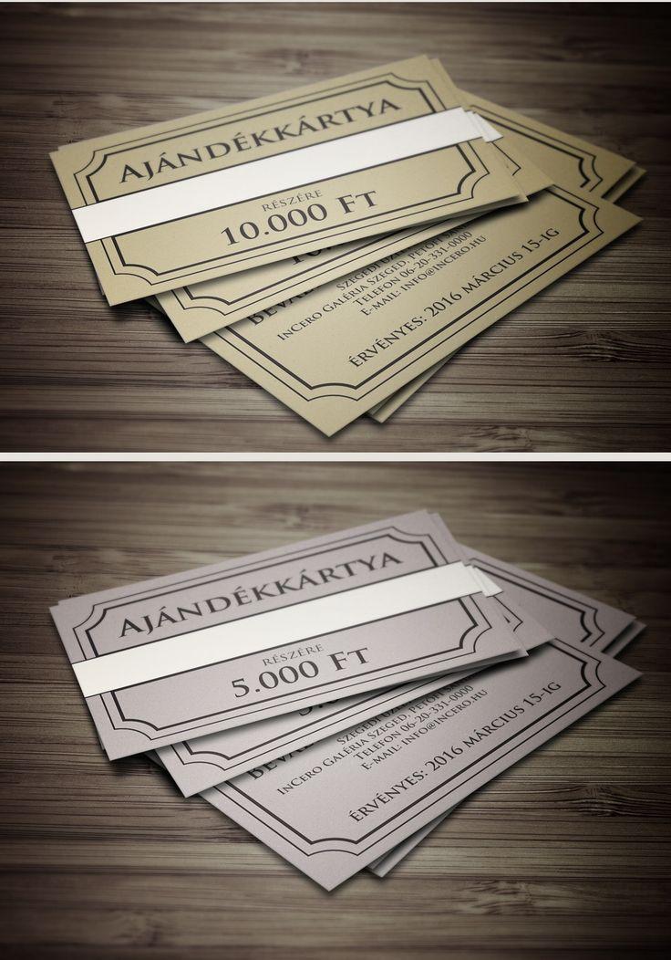 Rendeld meg az ajándékkártyát 5000,-Ft vagy 10000,- Ft értékben, és add át személyesen! Az ízlésesen kialakított kártyához, ajándék díszborítékot is adunk.