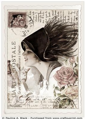 Vintage Fisher Postcard 9Claudia podwoiski