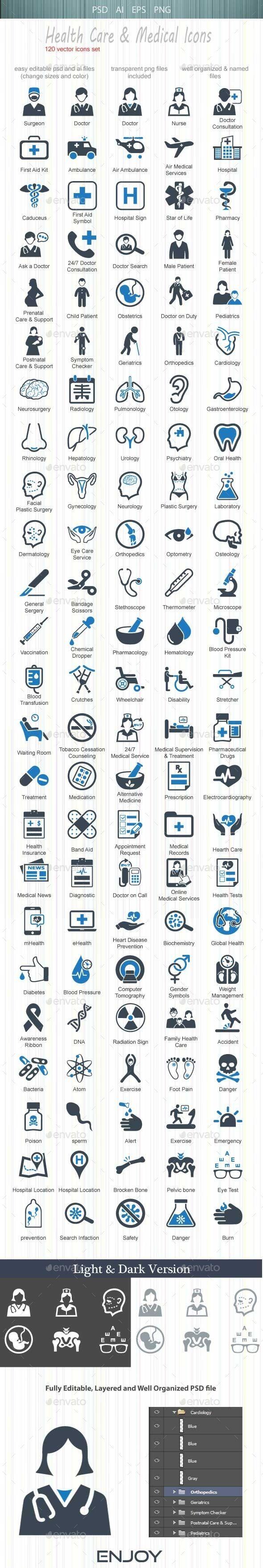 Health Care & Medical Icons #design Buy Now: http://graphicriver.net/item/health-care-medical-icons/12853833?ref=ksioks