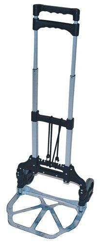 Milwaukee Hand Trucks 33884 Aluminum Fold Up Hand Truck by Milwaukee. Save 55 Off!. $25.96. From the Manufacturer                This Milwaukee Aluminum Fold up truck is lightweight and easy to use. It folds flat for storage. The handle extends to 39-Inch in height. The toe plate size of 15-Inch by 11-Inch along with 5-Inch non-marking wheels gives this a load capacity of 150-Pound A bungee cord is also included to help secure the load. Milwaukee-The Name the Pros Trust.          ...
