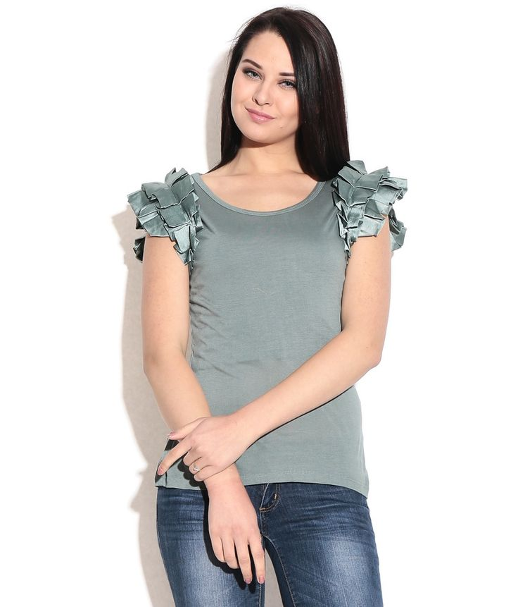 Remanika Green Viscose Tees