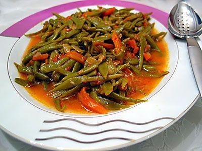 Zeytinyağlı taze fasulye - Turkish