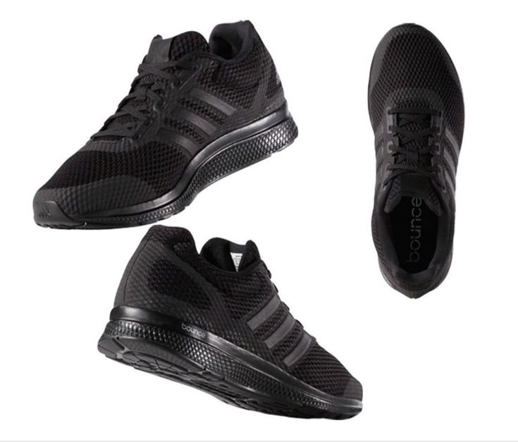 adidas Originals Mana Bounce Black Running Shoes for Men B42431 Brand New  Boxed