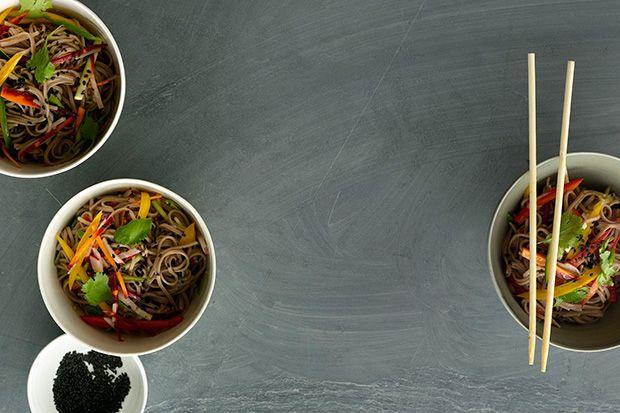 Cold Sesame Noodles with Summer Vegetables