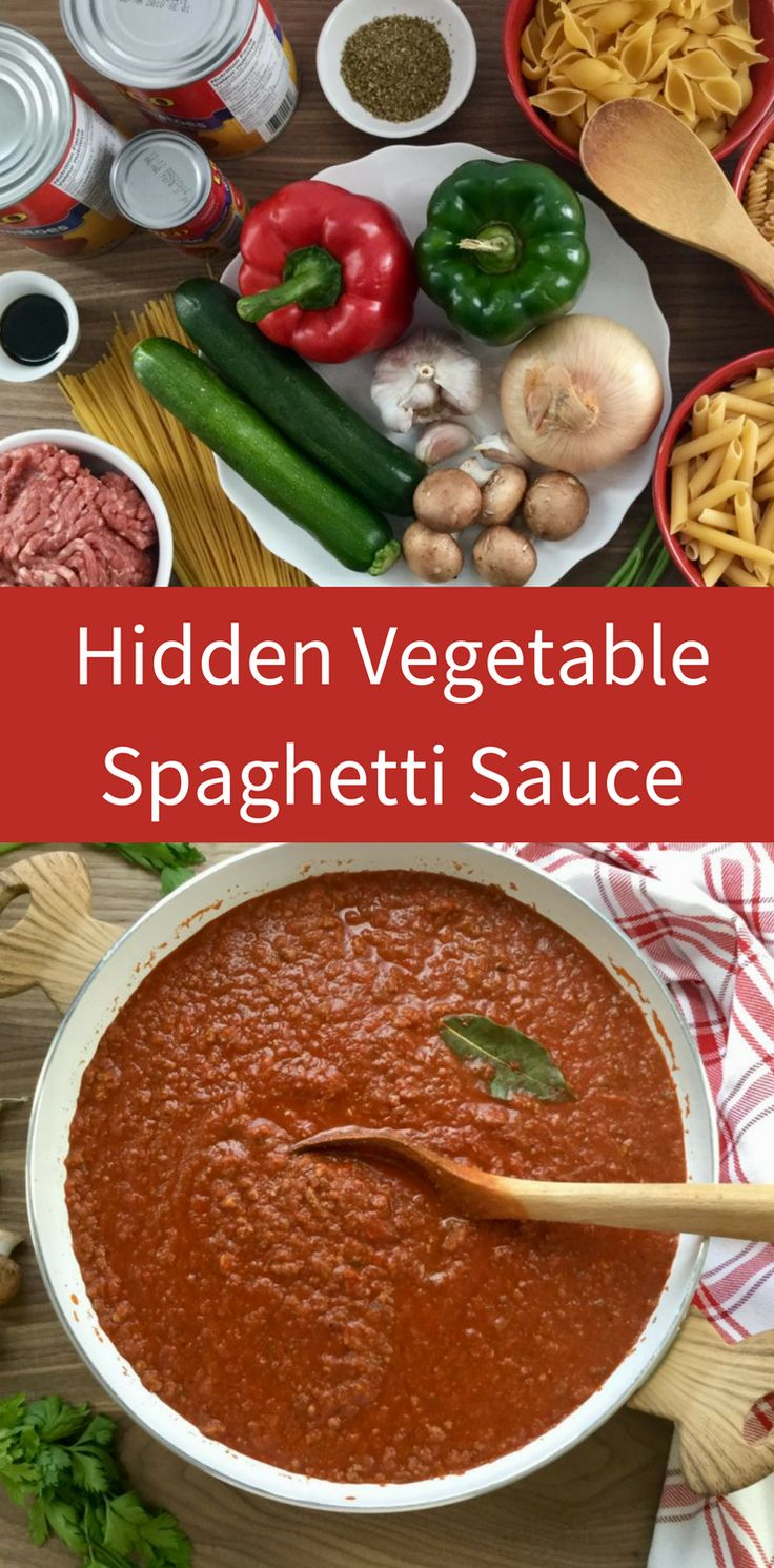 Make up a batch of this scrumptious (hidden) veggie-packed sauce and watch your family lick their plates!