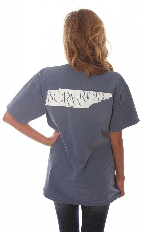 Riffraff | born & raised tee - Tennessee [blue]