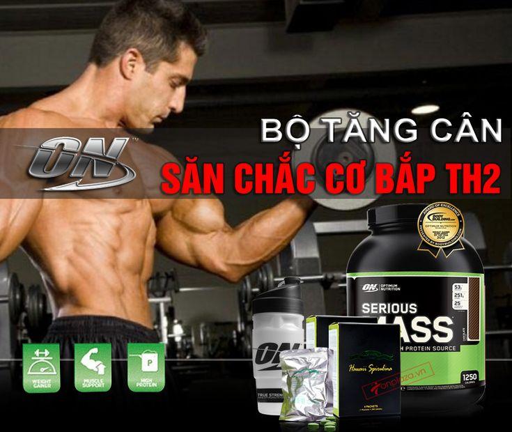 Bộ sản phẩm tăng cân săn chắc cơ bắp TH2