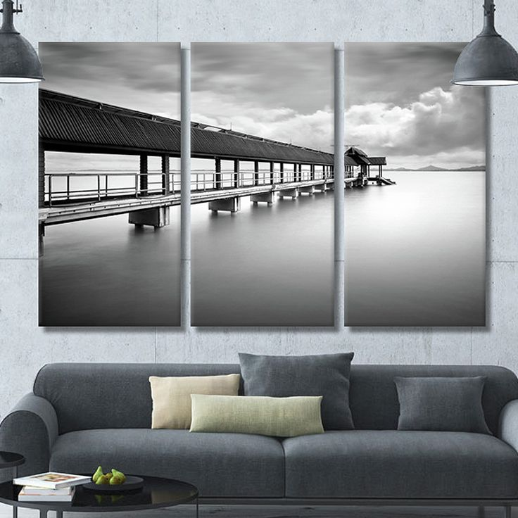 living room art prints%0A     from China printed zip lock bags Suppliers  Morden Wall Art Home  Decoration BlackandWhite Bridge Picture Canvas Print Painting for Livingroom  Bedroom