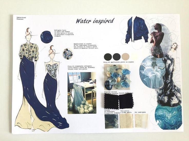 """In occasione della Giornata Mondiale dell'Acqua i bozzetti """"water inspired"""" dei nostri studenti del Corso Design e Progettazione della Moda."""