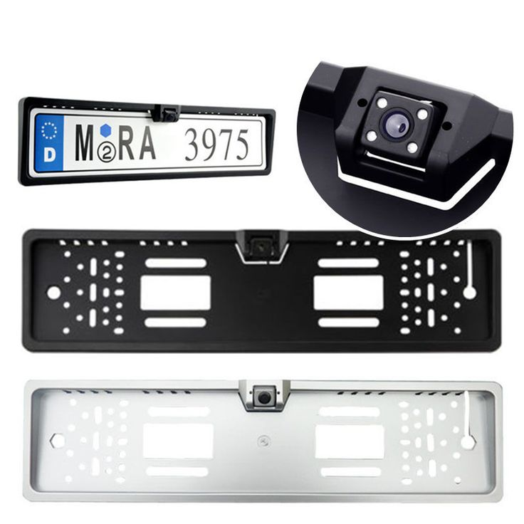 New Arrival High Quality 170 European Car License Plate Frame Auto Reverse Rear View Backup Camera 4 LED