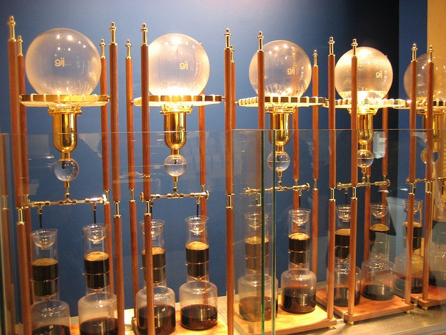 Siphon coffee at blue bottle