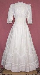 Gorgeous Edwardian Dress With Tucks And Inserted Panels