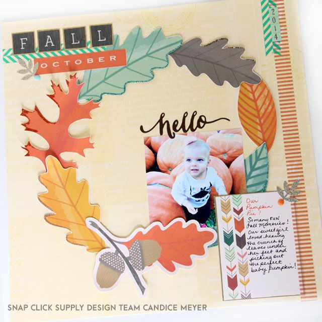 Digital scrapbook page by designer Candice Meyer featuring the Fall Blessings collection by Carta Bella Paper available at www.snapclicksupply.com. #digitalscrapbooking #snapclicksupply