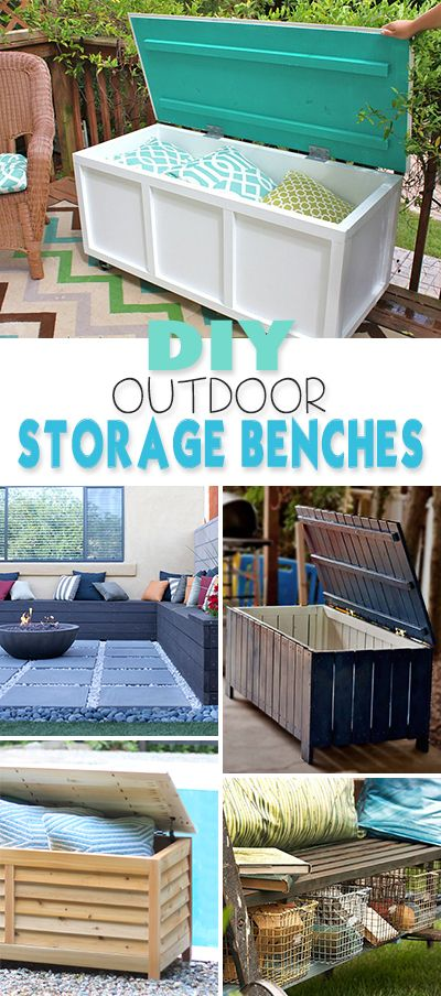 DIY Outdoor Storage Benches • Lots of great ideas & tutorials! For the Horse Trailer. :)
