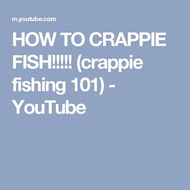 HOW TO CRAPPIE FISH!!!!! (crappie fishing 101) - YouTube