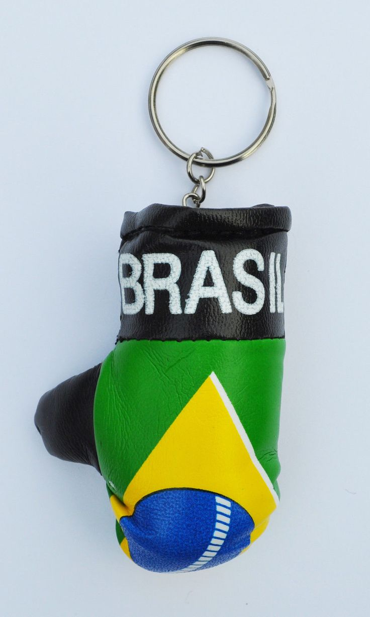 #Brazil mini boxing glove keyring #-brasil- olympic #support your country!,  View more on the LINK: http://www.zeppy.io/product/gb/2/351856871531/
