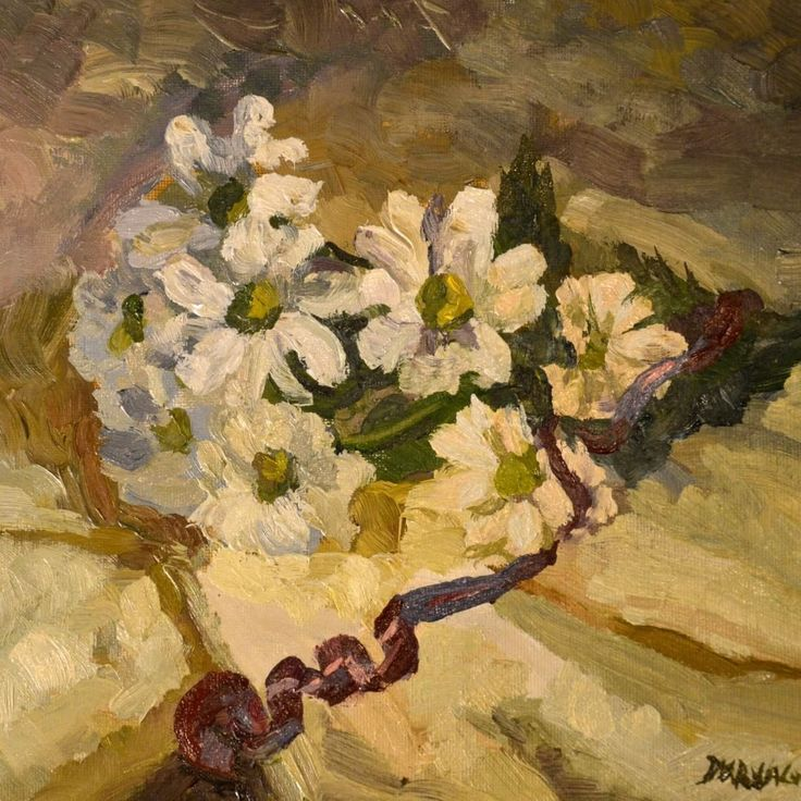Floral still life painting in oil by Victoria Duryagina