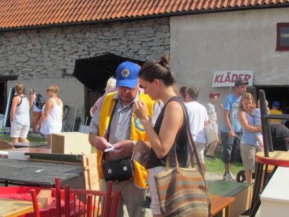 800 besökte Lions loppmarknad i Slite.