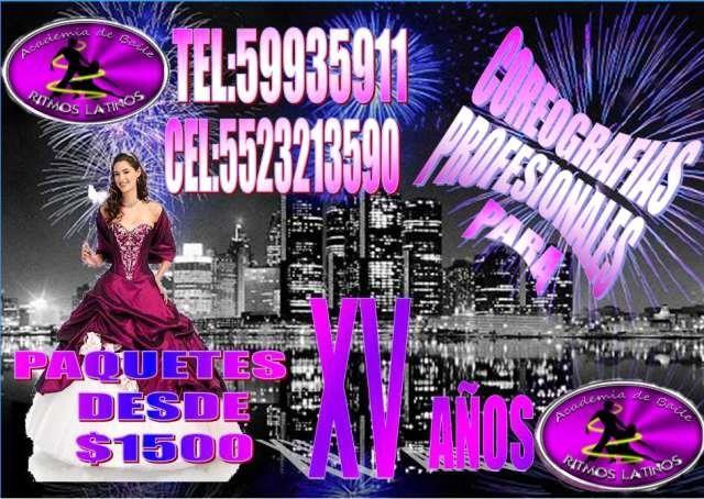 coreografias profesionales para xv años al mejor precio  ACADEMIA RITMOS LATINOS  SOMOS UNA EMPRESA SERIA DEDICADA AL ENTRETENIMIENTO DE EVENTOS ...  http://mexico-city.evisos.com.mx/coreografias-profesionales-para-xv-anos-al-mejor-precio-id-551970
