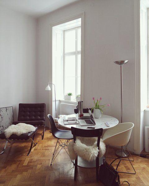 SoLebIch stellt vor: 10 neue Wohnungseinblicke, Foto von Mitglied Kaja Wgnr #SoLebIch #interior #interiordesign #esszimmer #diningroom #büro #homeoffice