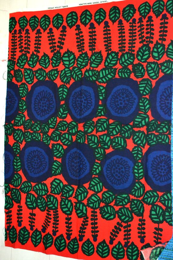 Swedish design VANJA fabric design Saini Salonen Borås Cotton 70s