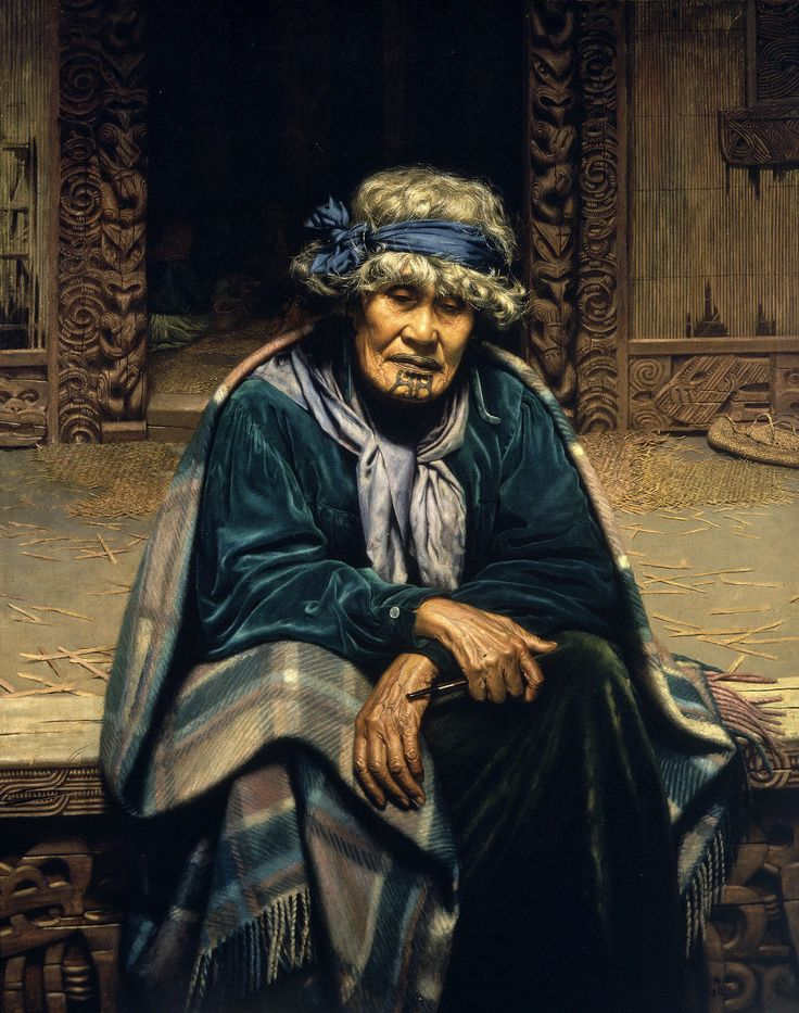 Artwork by Charles Frederick Goldie, Memories: Ena Te Papatahi, a Chieftainess of the Ngapuhi Tribe