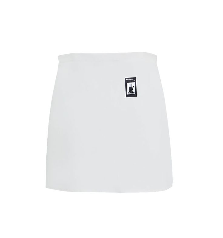 WATERPROOF WAIST APRON Model: 117 This a front waist apron, fastened at back. The model is made of waterproof fabric called Plavitex that is resistant against fats, enzymes, against digestive juices and disinfectants. The apron conforms to EN ISO 13688 and EN 343 standards.