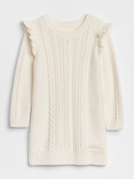 155473fc07c Gap Baby Cable-Knit Sweater Dress Ivory Frost