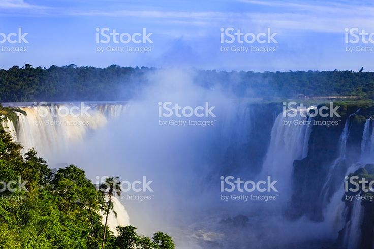 Devil's Throat at the Iguassu Falls between Brazil and Argentina. royalty-free stock photo