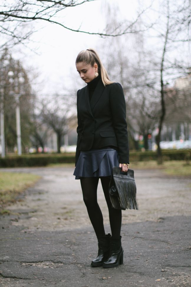 street style, preppy, edgy, track sole boots, fashion blogger  www.styleisfresh.com
