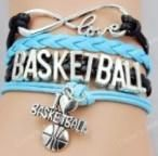 Super cute basketball cord bracelet.