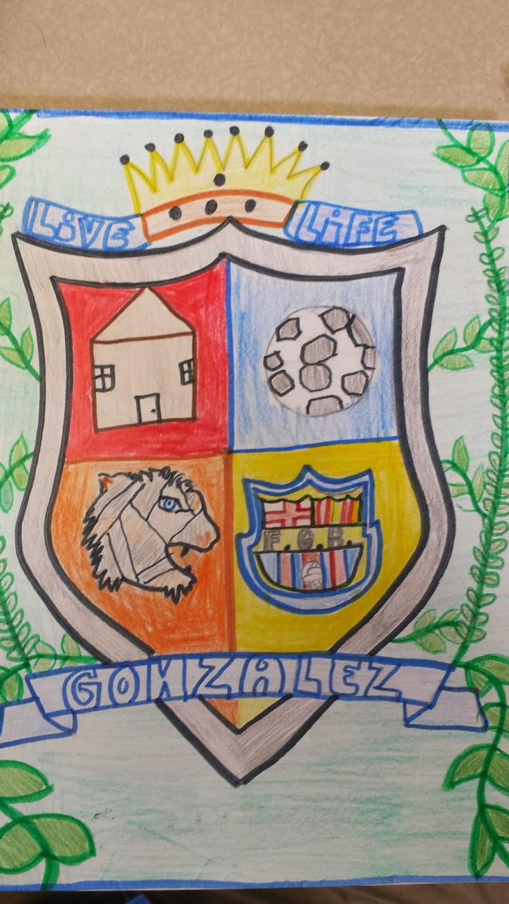 """Personal Coat of Arms - includes templates with different """"shield"""" shapes"""