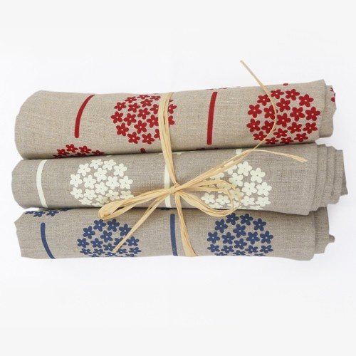 Hydrangea Tea Towel - screen printed by hand on organic linen by Thea and Sami. Available from Ecobella