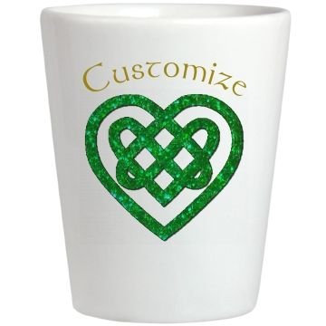 Personalized Celtic Heart Glass | Customize with your own text. BlueRose Creations - CustomizedGirl