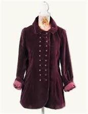 Victorian Trading Co April Cornell Aubergine Polka Dot Dress & Velvet Jacket M