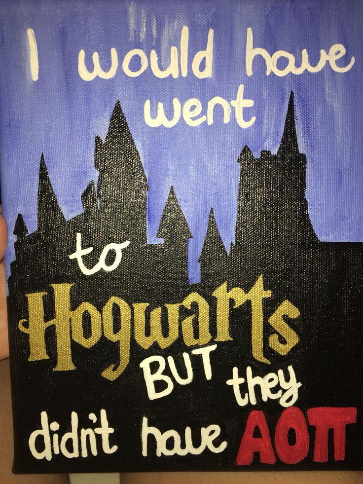 Harry Potter sorority canvas