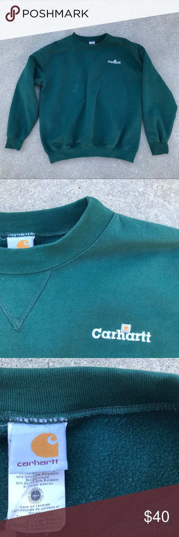 Carhartt Sweatshirt Green Carhartt Sweatshirt in size XL. Good condition with no stains or holes. Carhartt Shirts Sweatshirts & Hoodies