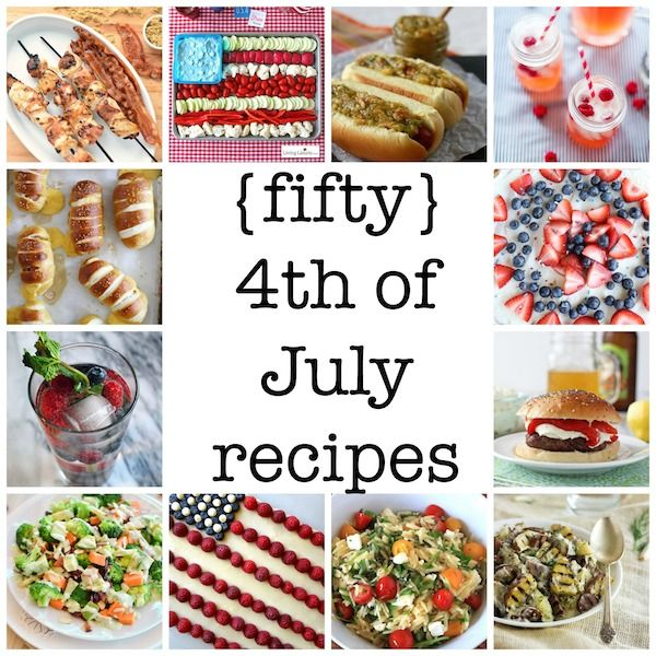 july 4th recipes red white and blue