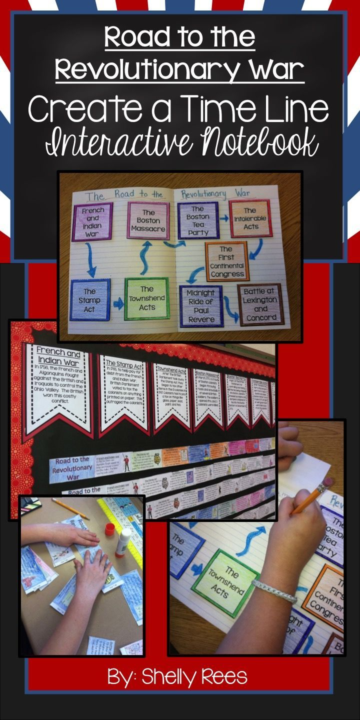 Road to the Revolutionary War - Students learn the events leading to the Revolutionary War by creating a timeline and adding foldables in their interactive notebooks in chronological order. My fifth grade students LOVED these activities! Perfect for grades 3-6!