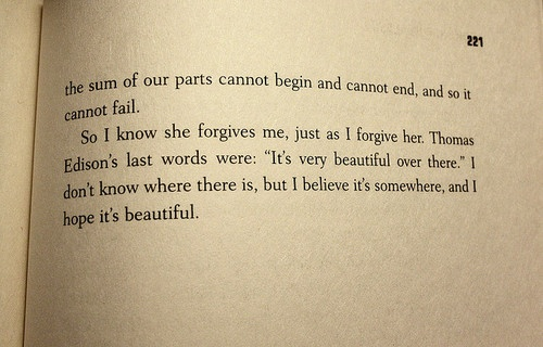 Looking For Alaska - John Green. Just finished it at four in the morning..