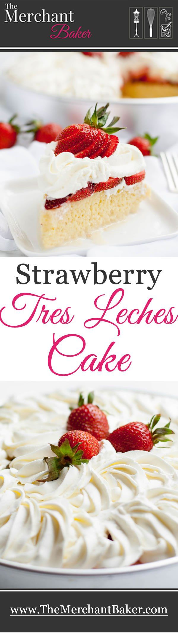 Strawberry Tres Leches Cake takes the classic combo of strawberries and cream to a new level. Berries are a perfect match for this rich and creamy cake!