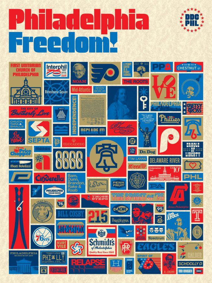 Philadelphia Freedom: 2nd Edition: Aaron Draplin, Things Philly, Philadelphia Freedom, Draplin Design, Art Prints, Graphics Design, Philly Freedom, Philadelphia Posters, Freedom Posters