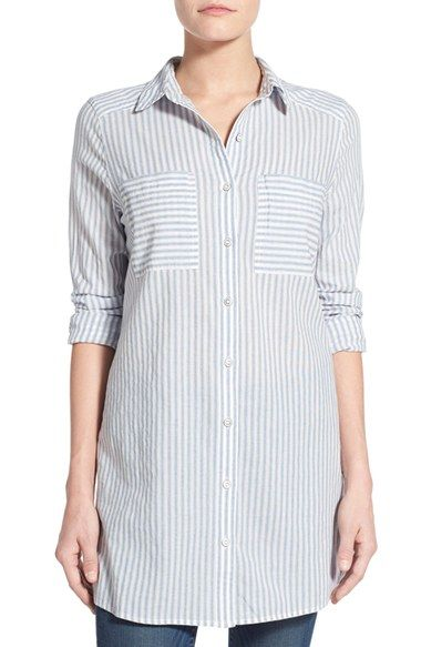 Caslon® Cotton Tunic Shirt (Regular & Petite) available at #Nordstrom