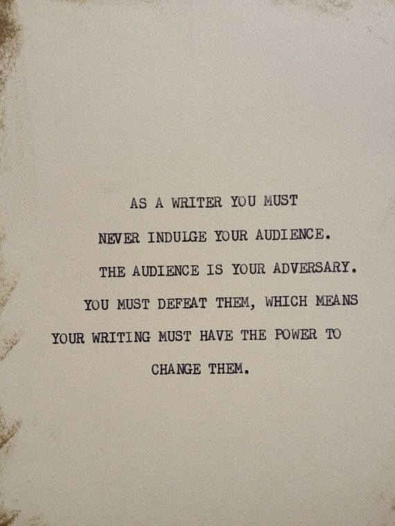 THE WRITER: Typewriter quote on 5x7 cardstock on Etsy, $6.00 http://www.janetcampbell.ca/