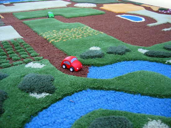this page shows photos and lists the locations of tons of childrens road rugs to choose