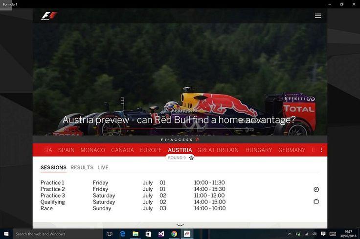 Η εφαρμογή Formula 1 ήρθε για τα  Windows 10! - http://secnews.gr/?p=154816 - Η επίσημη εφαρμογή Formula 1 για Windows συσκευές έλαβε σήμερα την ενημέρωση που ανοίγει τον δρόμο για το 2017.  Παραμένοντας μια καθολική εφαρμογή, το Formula 1 έρχεται με υποστήριξη για υπολογιστές και κινητές συσκευές πο